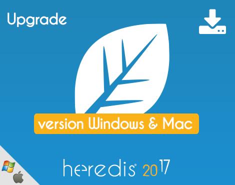 Bundle - Heredis 2017 for WINDOWS & MAC - UPGRADE