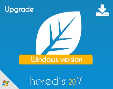 Heredis 2017 for WINDOWS - UPGRADE